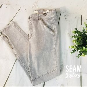 Gray wash cotton on motto skinny jeans